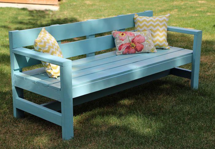 Modern Park Bench Diy Furniture Easy Diy Outdoor 400 x 300