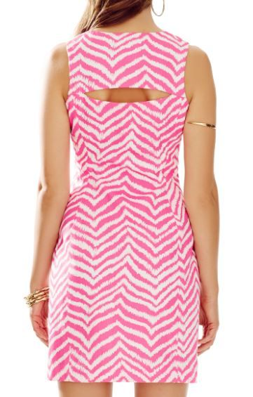 81af00a5a92 Cool Open Back Detail- Lilly Pulitzer Penelope Shift Dress in Zebron