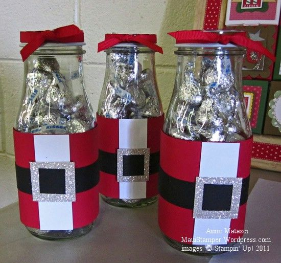 This isn't my original idea - it came from a fellow Stampin' Up! demonstrator.   Natalia Danko is one of the sweetest people you could ever hope to meet, and her little fat Santa jars are a perfect...
