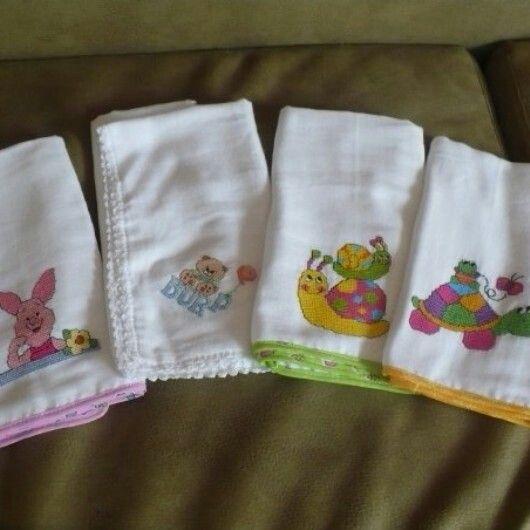 Panales Bordados Para Bebes.Panales Bordados Panales Recuerdos De Bautizo Y Punto De Cruz