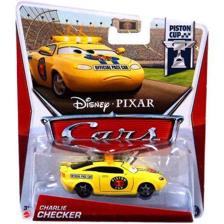 Disney Cars Series 3 Charlie Checker 1 55 Diecast Car Colecionaveis Carros Brinquedos