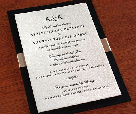 are you looking for a classic wedding invitation to set the tone for