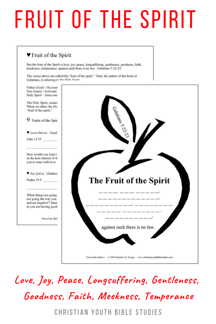 Fruit Of The Spirit Lesson For Kids Teens Youth Bible Studies Bible Lessons For Kids Youth Bible Study Bible Study For Kids