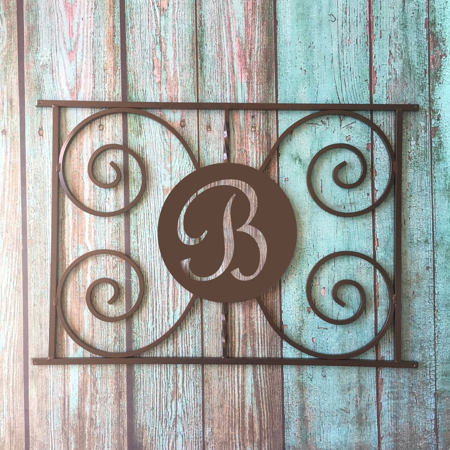 Monogram Design Screen Door Grille Protect And Beautify Easy Install Handcrafted Many Colors Aluminum Custom Sizes Initial Letter Screen Door Grilles Screen Door Grill Door Design