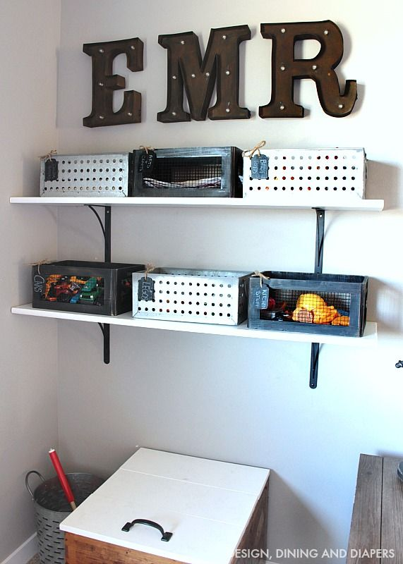 Playroom Organization for all the tiny pieces from MichaelsMakers Design Dining and Diapers