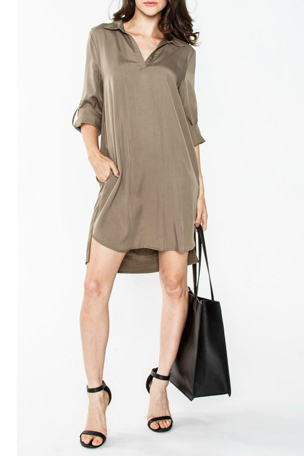 Sugarlips olive shirt dress olive shirt long sleeve shirt dress