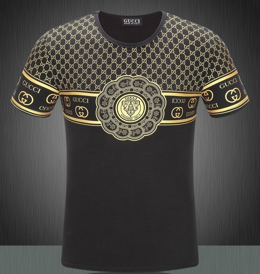 9e0a19ead63 New Gucci Mens Short Sleeve T-Shirt Black S