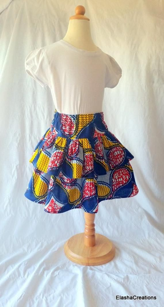 Girls African print skirts. African print childs skirt. African print fabric skirt. Wax print skirt 5 to 6 years