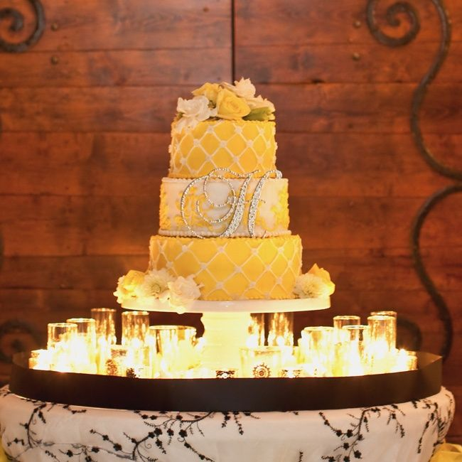 Yellow Wedding Cake | The Cake | Pinterest | Yellow weddings ...