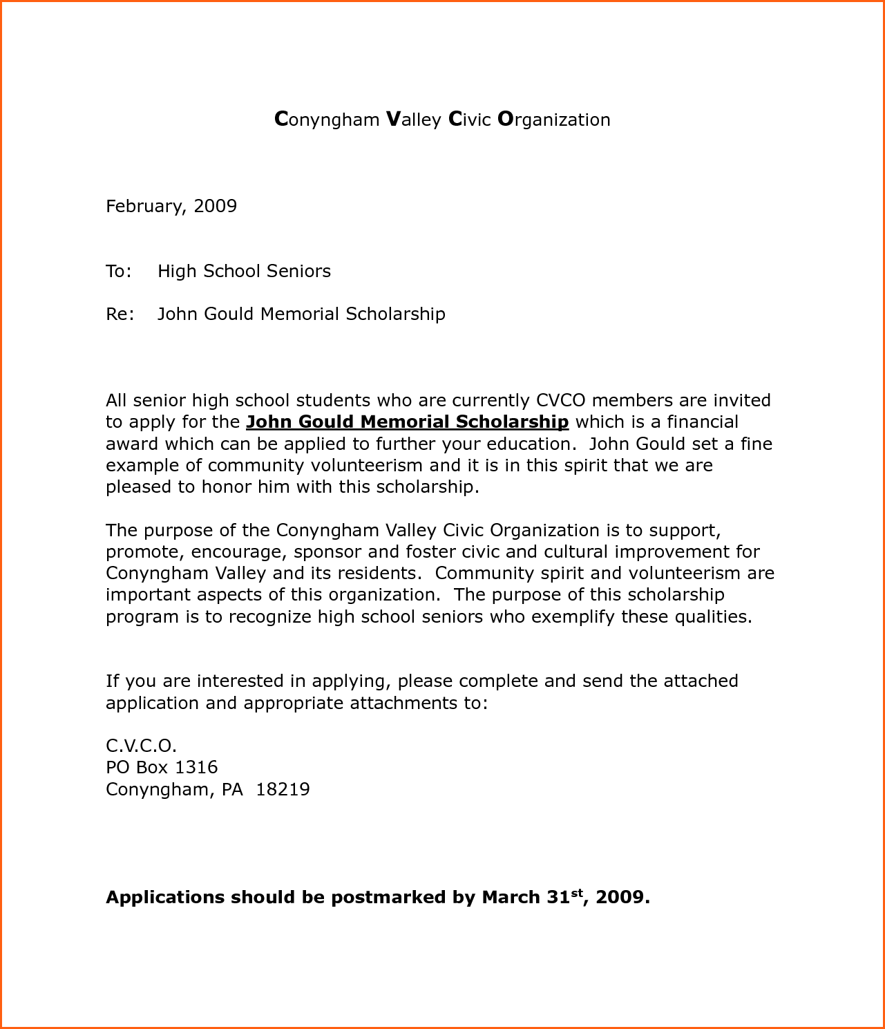 Cover Letters For Scholarships Event Planning Template Bursary