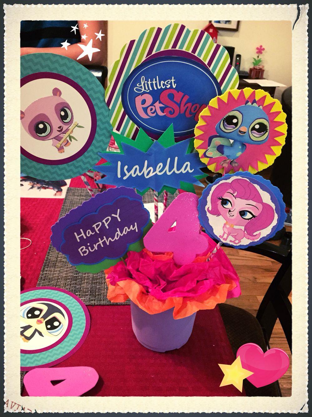 Littlest Pet Shop Centerpiece | Littlest Pet Shop Party Ideas ...