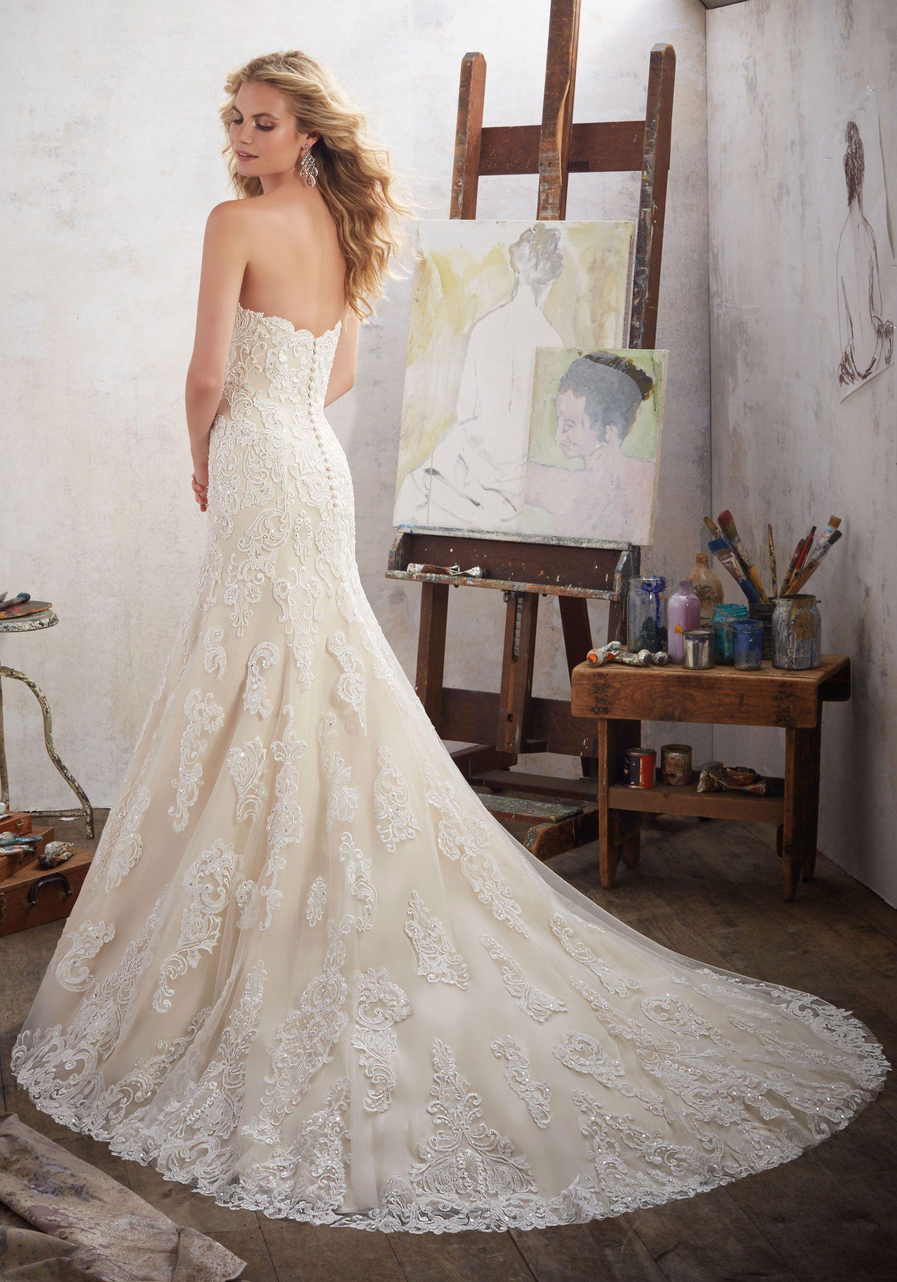 Morilee by madeline gardner 39 mackinley 39 8102 strapless for Madeline gardner mori lee wedding dress