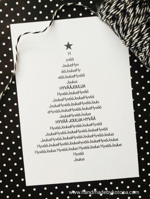 Itsetehdyt Joulukortit