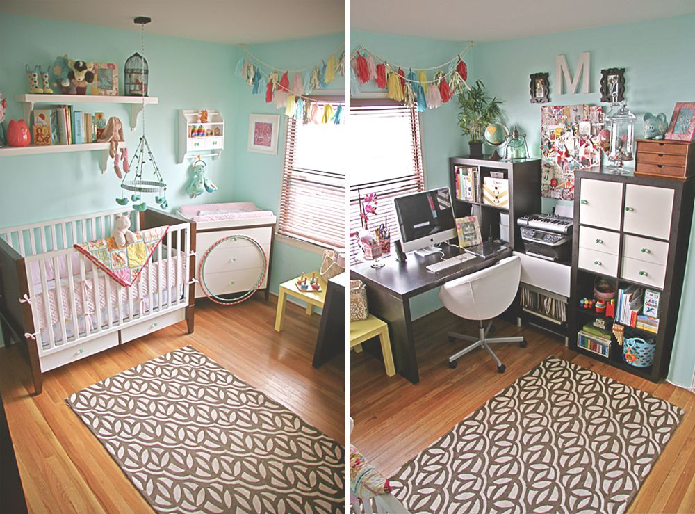 Sharing space, nursery for baby & office for mom. | You + Me ...