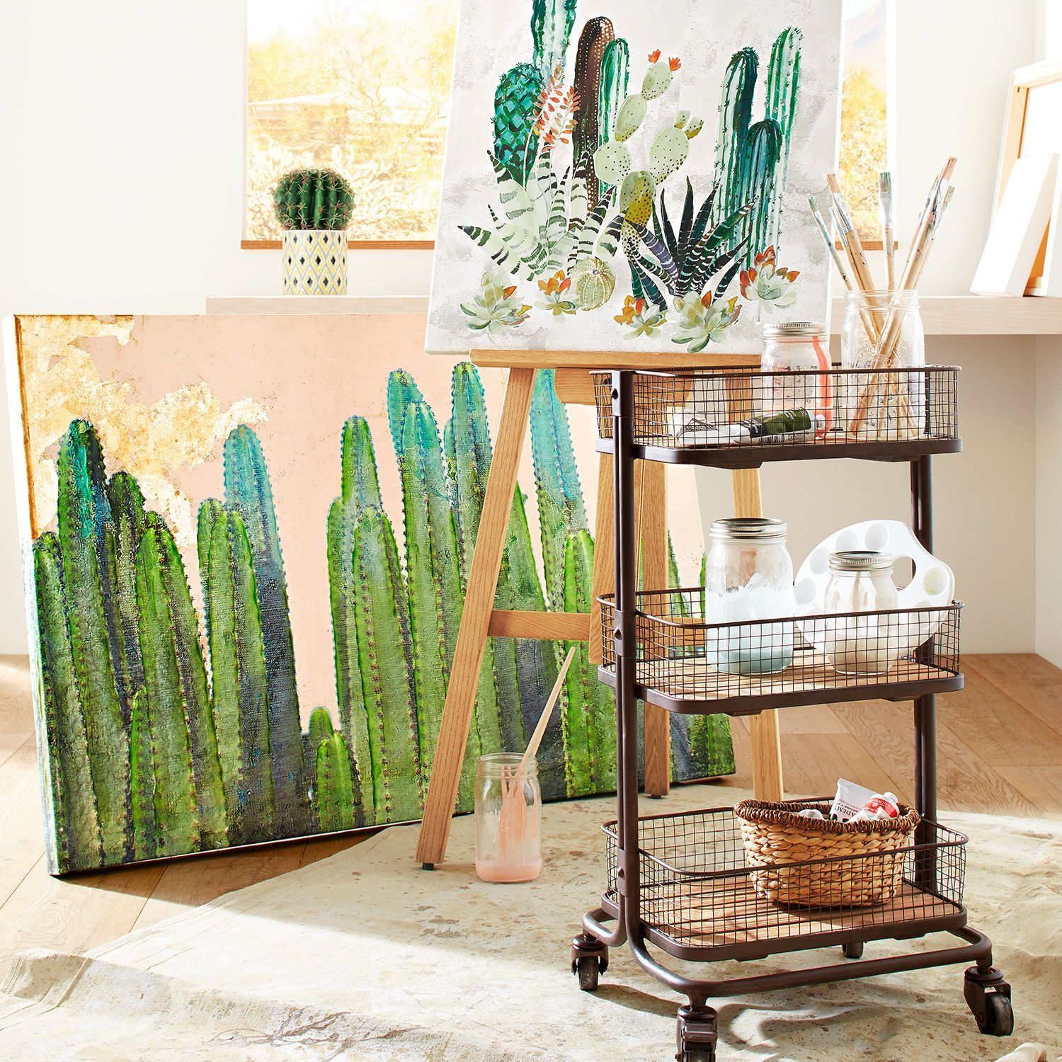 Desert Cactus Wall Art Pier 1 Imports 89 Clearance Nature Canvas Painting Cactus Wall Art Unique Wall Art