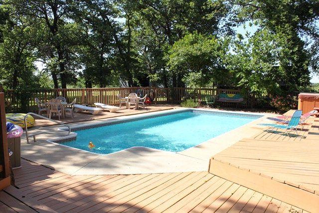 Inground Pool Beautiful Outdoor Spaces Backyard Pool Pool Decks