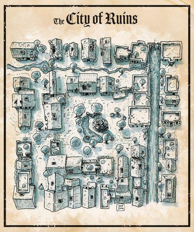 Alte Karte Stadtplan Kartographie Dungeon Karten