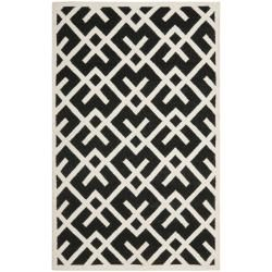 Com This Handmade Dhurrie Rug Features A Moroccan Inspired Design And Dense