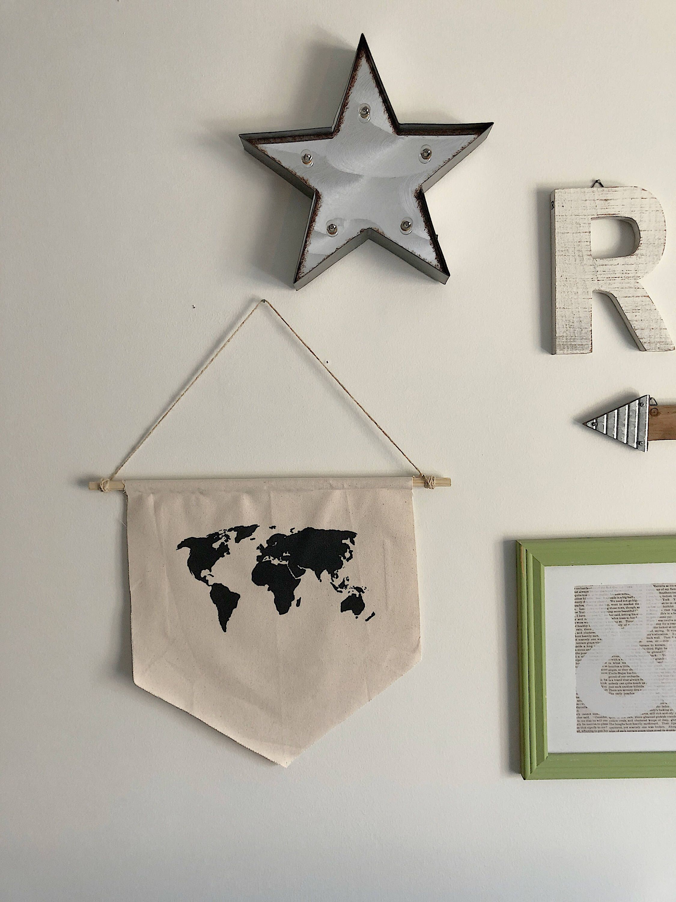 World map banner wall hanging canvas wall hanging world map world map banner wall hanging canvas wall hanging world map map wall hanging gumiabroncs Image collections