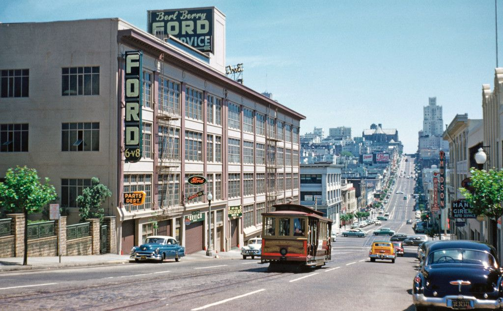 Cable cars 1954 a huge loss street street view back
