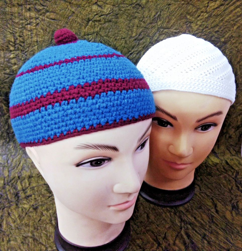 c5382ab2108baa 2 Muslim Beanie Crochet Cap Kofi Men Stretchable Koofi Kufi Islamic Prayer  Hat. #fashion #clothing #shoes #accessories #mensaccessories #hats (ebay  link)