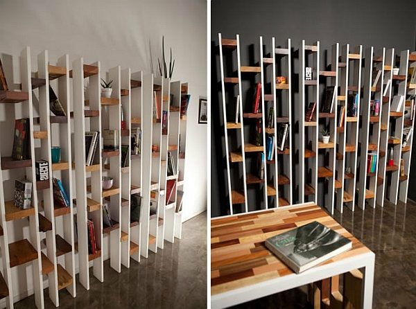 l 39 tag re murale design 82 id es originales pinterest bois recycl. Black Bedroom Furniture Sets. Home Design Ideas