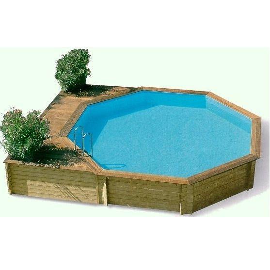 Ocea 39 pool ronde piscina fuori terra in legno img 1 piscine pinterest swimming pools - Piscine fuori terra in legno ...