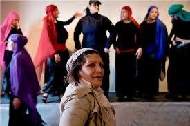"""Scene from award-winning documentary  """"SCHEHERAZADE'S DIARY.  #arab #cinema #film #prison #women #lebanese #lebanon #drama #therapy #HRWFF #anaarabcinema #ANA2014"""