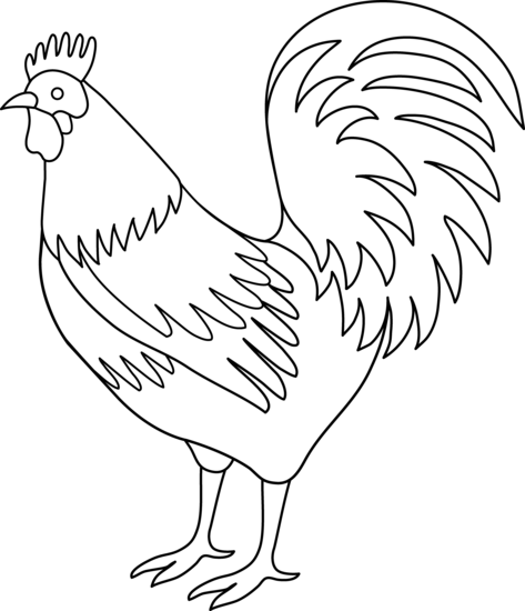 Rooster Coloring Page Free Clip Art Chicken Clip Art Rooster Painting Coloring Pages