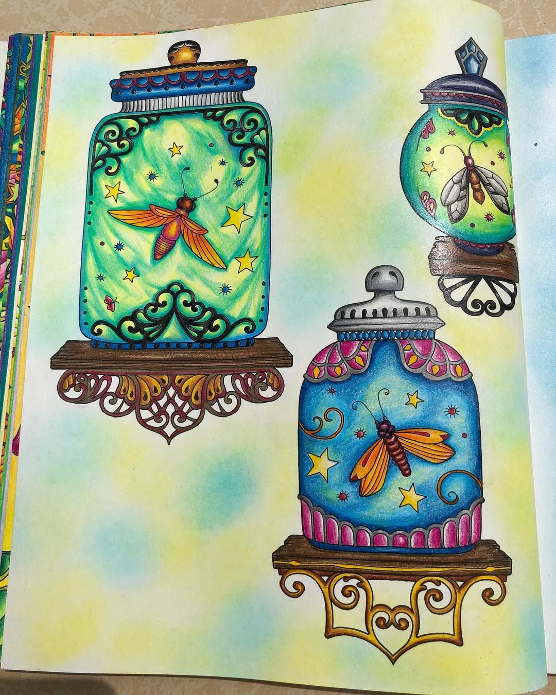 #ivyandtheinkybutterfly | Johanna basford coloring book ...