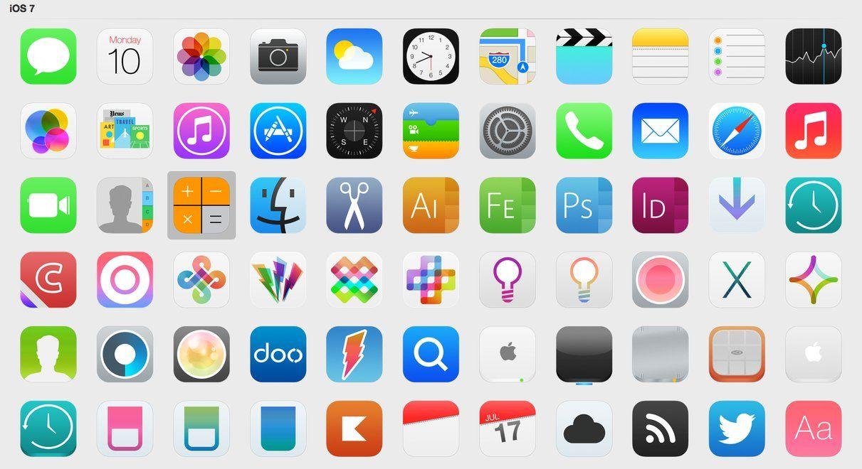 Desktop iOS 7 icons Ios 7 icons