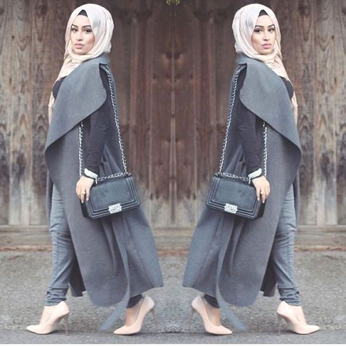 On Trend And Elegant Looks For: Street Hijab Fashion, Muslim