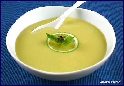 Kahakai Kitchen: Creamy Lime and Coconut Edamame Soup: Hot or Cold, Thai-Inspired for Souper (Soup, Salad and Sammie) Sundays