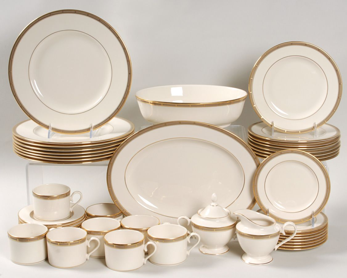 golden wedding plate set with gold trimming | Special Offer on Select Lenox Dinnerware Sets at : dining plate set - pezcame.com