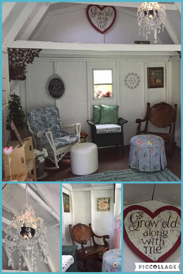 Interior Of Cheryl Johnson Brown S She Shed In Wisconsin Interior Decor She Shed