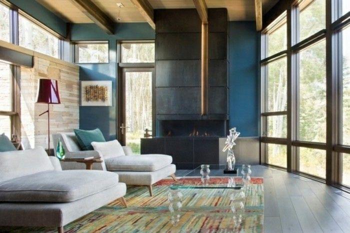 Die wunderschöne und effektvolle Wandfarbe Petrol! - wohnzimmer ideen petrol