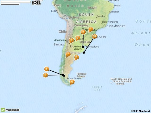10 Best Places to Visit in Argentina Touropia – Argentina Tourist Attractions Map