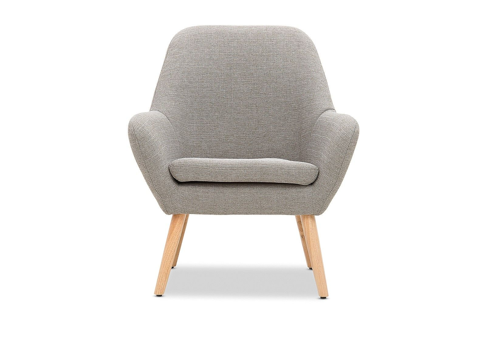 Guyer Fabric Accent Chair In Light Grey From Amartfurniture Aud