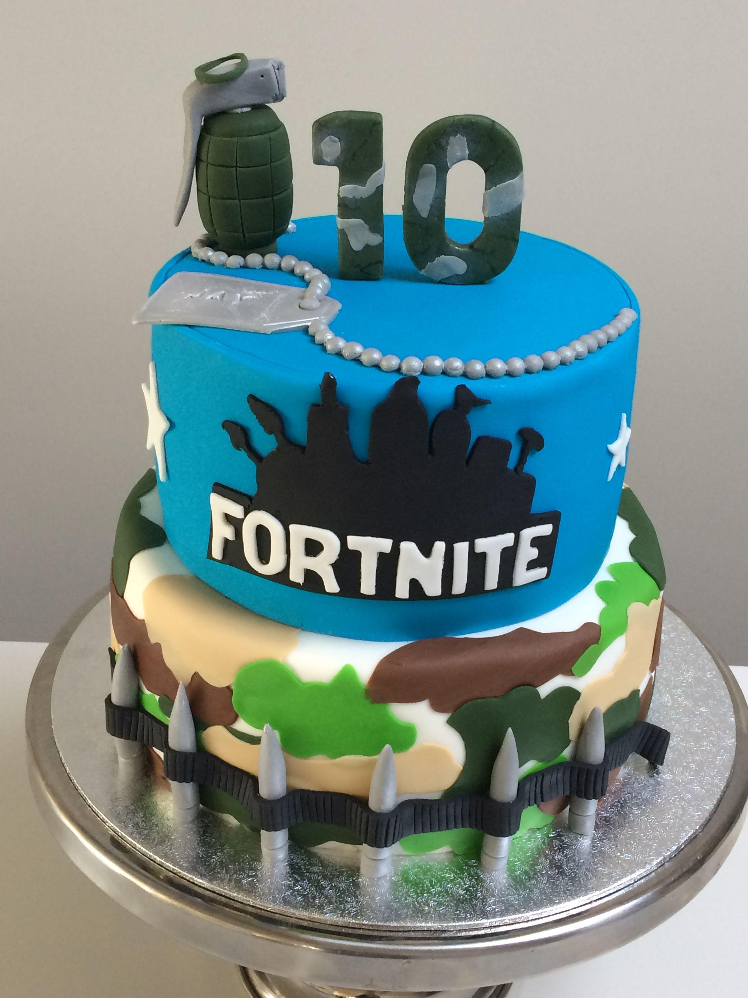 Fortnite taart Verjaardagstaart ideeën, Verjaardag