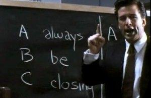 ABC - ALWAYS BE CLOSING. lávna mantra všetkých obchodníkov, ktorú širokým masám predstavil Alec Baldwin v skvelom filme Glengarry Glen Ross, sa dá s istými malými zmenami použiť aj v osobnom časovom manažmente.    ABC, Always Be Closing, je skratka, ktorá sa do slovenčiny prekladá dosť ťažko, ale pokúsim sa… VTU – Vždy To Uzatvárajte. Priznávam, ABC znie o dosť lepšie ako VTU, ale v čase písanie tohto článku mi nič lepšie nenapadlo :)