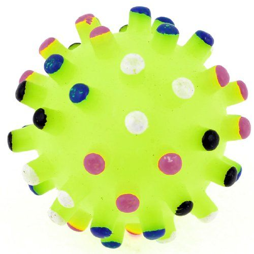 Yellow Green Soft Plastic Quack Sound Ball Dog Doggie Funny Toy * Want additional info? Click on the image.