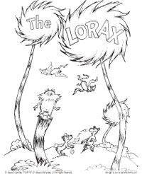 Coloring Page The Lorax Dr Seuss Coloring Pages Dr Seuss