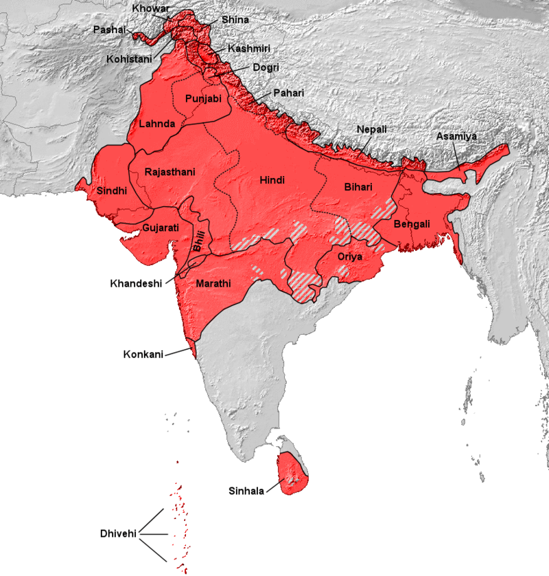 Distribution of indo aryan languages in the indian subcontinent distribution of indo aryan languages in the indian subcontinent gumiabroncs Image collections