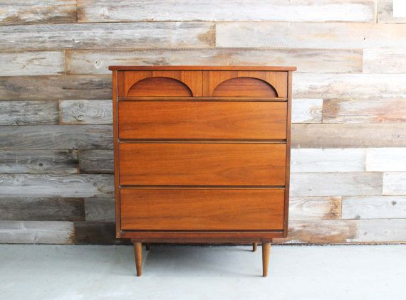 Best Vintage Mid Century Modern Mcm Tall Dresser By 640 x 480