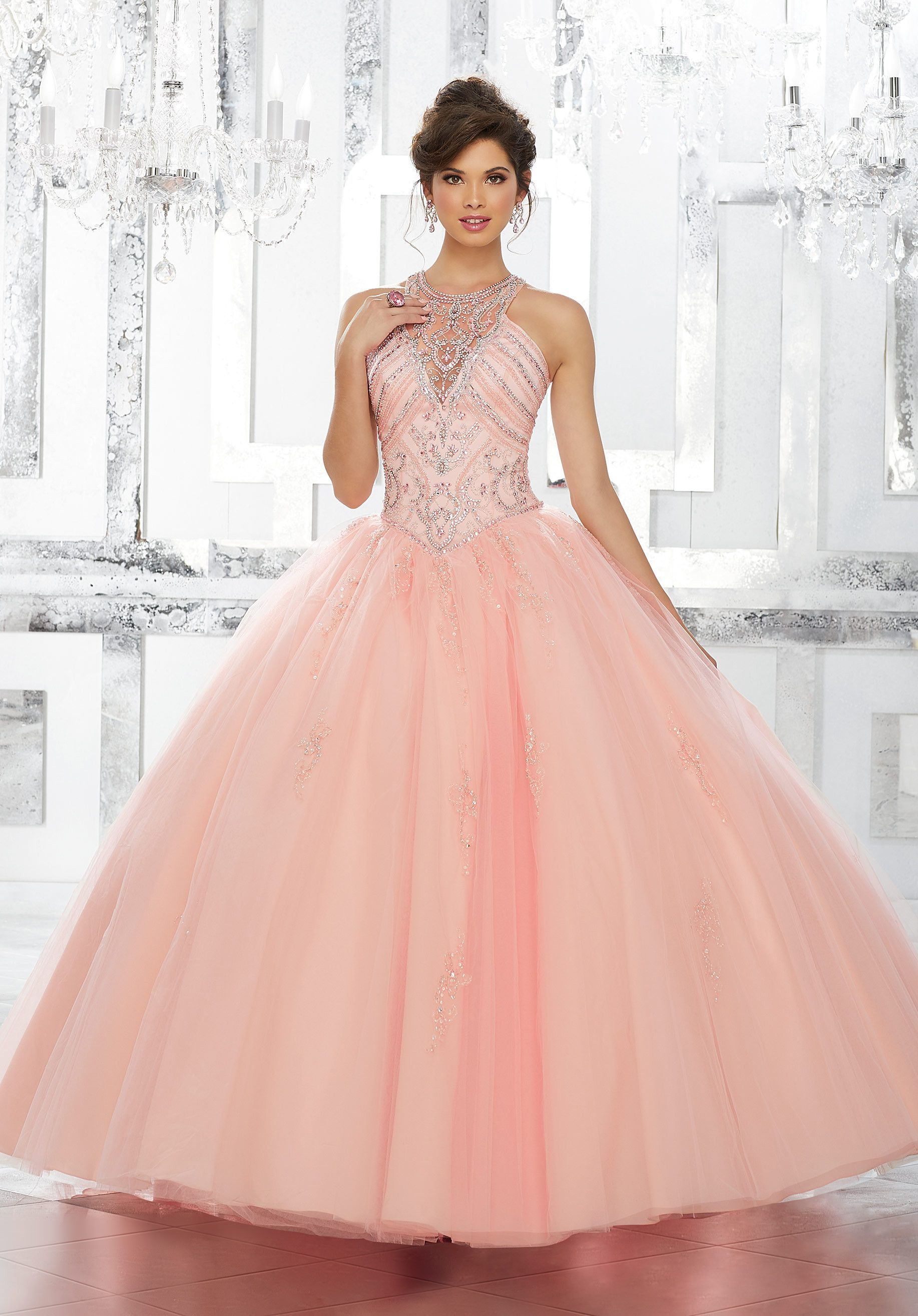 Illusion A-line Quinceanera Dress by Mori Lee Vizcaya 89145 ...
