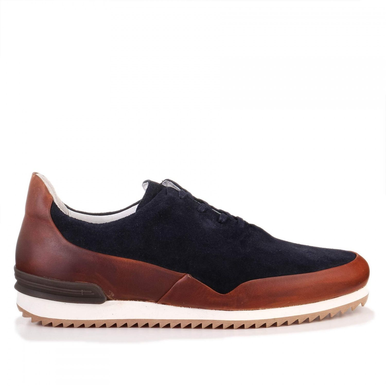 Piola Barranco Sneaker navy/tobacco