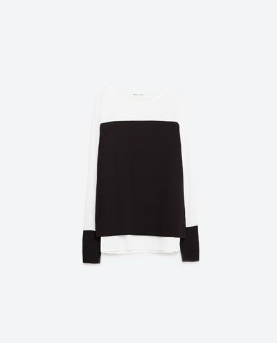 Image 8 of TWO-TONE CONTRASTING TOP from Zara