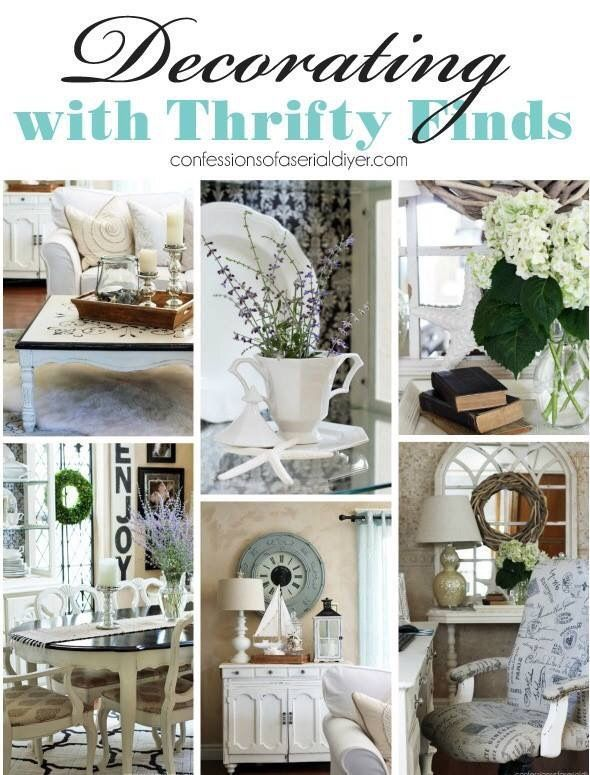 Decorating with Thrifty Finds {a Décor Challenge} #thriftstorefinds