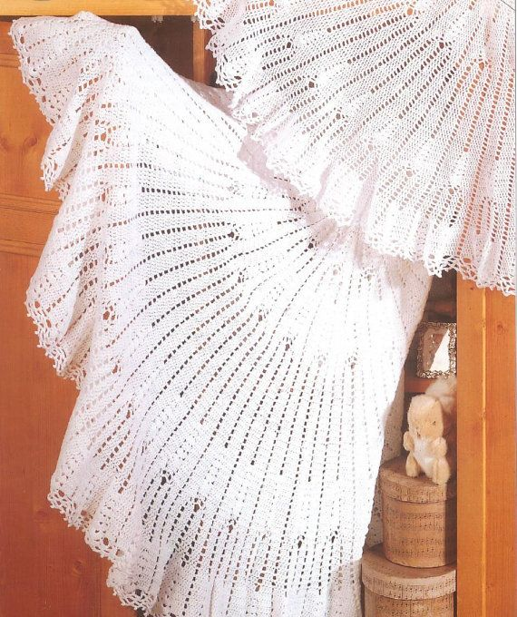 Crochet Pattern - Baby Shawls - Circular shawls in 2 ply and 3 ply ...