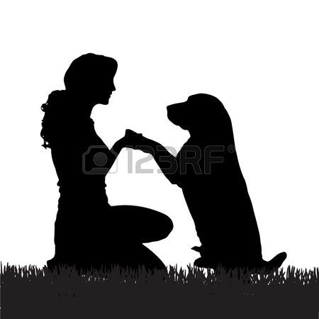 Dog Stock Vector Illustration And Royalty Free Dog Clipart Girl